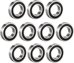 uxcell 6904-2RS Deep Groove Ball Bearing Double Sealed 1180904, 20mm x 37mm x 9mm Carbon Steel Bearings (Pack of 10)