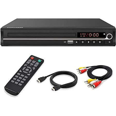 DVD Player,Foramor HDMI DVD Player for Smart TV Support 1080P Full HD with HDMI Cable Remote Control USB Input Region Free Home DVD Players