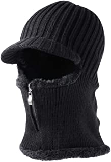wartleves Balaclava Face Mask for Cold Weather Knitted Beanie Hat for Women Men Warm Face Cover