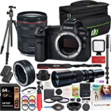$2899 » Canon EOS R Full Frame Mirrorless Camera with RF 24-105mm f/4L is USM Lens 3075C012 Bundle with 500mm Preset Telephoto Lens, 64GB, VEO2 Tripod, Deco Gear Case, Filter Kit and Accessories