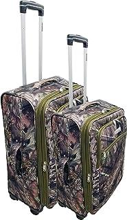 Explorer 2 pcs Mossy Oak Luggage Set Wheel Realtree Like Tactical Hunting Camo Heavy Duty Duffel Bag Luggage Travel Gear f...