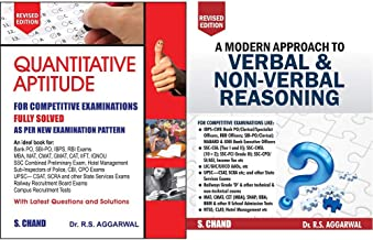 Quantitative Aptitude for Competitive Examinations + A Modern Approach to Verbal & Non-Verbal Reasoning (2 Colour Edition)...