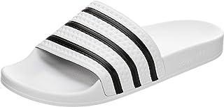 Adidas Adilette, Unisex – Adulto Ciabatte, White/Black/White, 14 UK (50 EU)