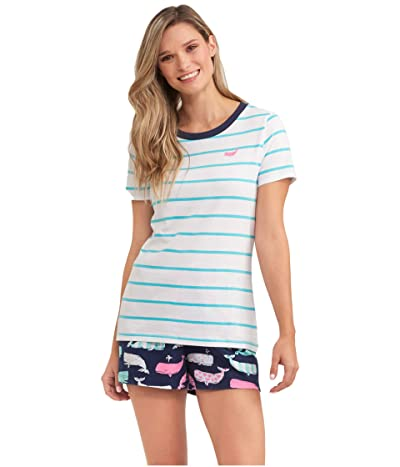 Little Blue House by Hatley Nautical Whales Pajama Tee