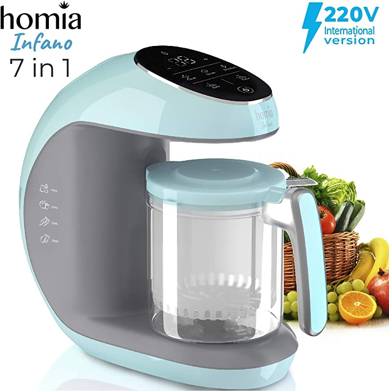 Baby Food Maker Chopper Grinder Mills And Steamer 7 In 1 Processor For Toddlers Steam Blend Chop Disinfect Clean 20 Oz Tritan Stirring Cup Touch Control Panel Auto Shut Off 220V Only