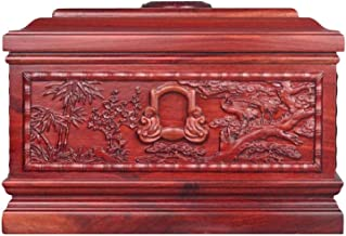 JIADUOBAO-urn Urns for Human Ashes, Tree of Life Adult Wooden Box, Soulmates Together Forever (Red Sandalwood, 380 Cubic I...