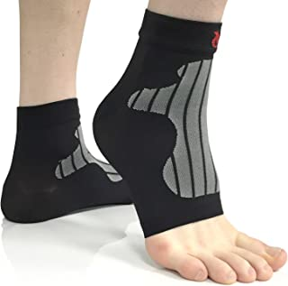 VeloChampion Ankle & Foot Compression Supports/Sleeves (Pair) Ideal for Plantar Fasciitis, Sprains, Arthritis