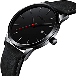 Men Sports Black/Blue/Gold/Red/Brown Ultra Thin Wrist Watches Fashion Waterproof Quartz Men's Watch