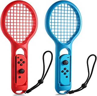 Nintendo Switch Joy-Con テニスラケット 2個セット KIYOSI マリオテニス 専用ハンドル 任天堂 落下防止ストラップ付き 軽量ABS製 テニスゲームの臨場感