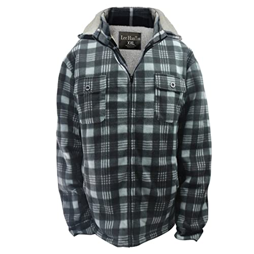 b6bad445bad Eurogarment Winter Heavy Warm Sherpa Lined Fleece Plaid Flannel Jacket Men  Plus Size S-5XL