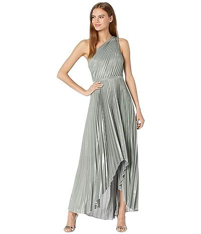 BCBGMAXAZRIA Iridescent Metallic Knit Evening Dress
