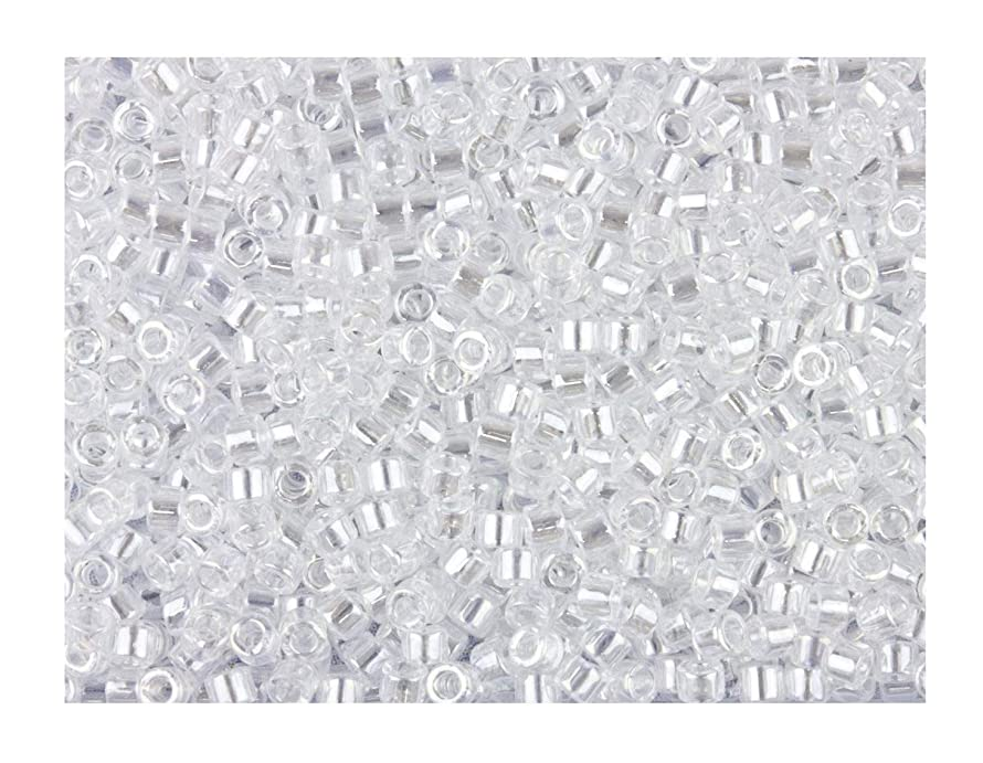 Crystal Luster (Db50) Delica Myiuki 11/0 Seed Bead 7.2 Gram Tube Approx 1400 Beads