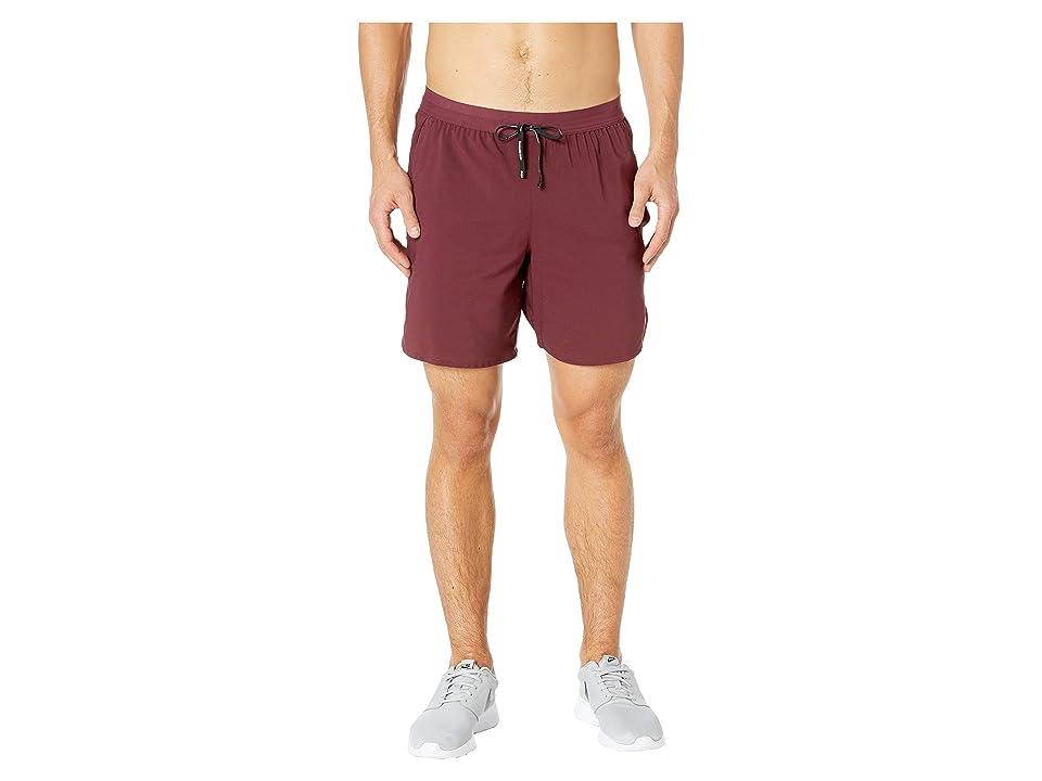 Nike Flex Stride Shorts 7 BF (Night Maroon/Metallic Silver) Men