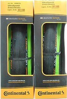 2本セット Continental(コンチネンタル) UltraSport2 グリーンカラー ウルトラスポーツ2 700c 緑 クリンチャー [並行輸入品]