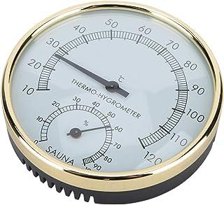 Higrómetro para sala de sauna, exquisita mano de obra Termómetro de sala de sauna de metal de alta calidad, diseño a prueb...