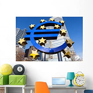 Wallmonkeys Euro Sign Frankfurt Am Wall Mural Peel and Stick Graphic (60 in W x 40 in H) WM362504
