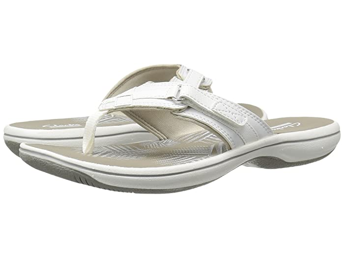 Clarks  Breeze Sea (White Synthetic) Womens Sandals