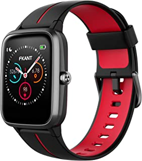 FKANT Smart Watch (GPS, 38mm) Fitness Tracker with Heart Rate Monitor, 5ATM Waterproof Step Counter with Sleep Monitor Pedometer, Activity Tracker for iOS Android (Samsung Huawei iphone)