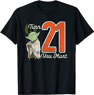 Star Wars Yoda 21st Birthday T-Shirt