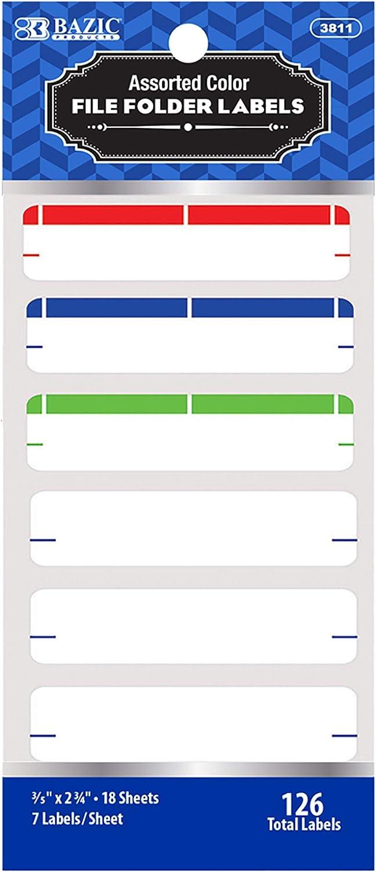 BAZIC Cash special price File Folder Popular overseas Label 2 3 4