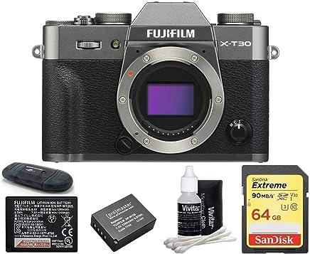 $899 Get FUJIFILM X-T30 Mirrorless Digital Camera (Body with 64GB Bundle, Dark Silver)