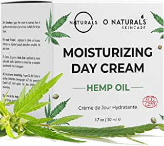 O Naturals Organic Face Moisturizer Hemp Oil Day Face & Neck Anti-Aging Cream. Hyaluronic Acid Hydrating Relives Dry Skin....