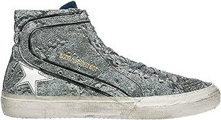 The Golden Goose Womens G31WS595.LAN1 Golden Goose Women's Sneakers Slide Silver Glitter/Landed G31ws595.lan1