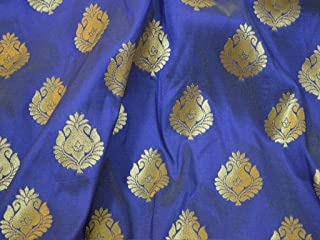 Beautiful Varanasi Brocade Fabric in Twin Shade Blended Brocade for Lehenga Fabric