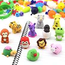Yeeteching 3D Animal Erasers Pull Apart for Birthday Party, Classroom Rewards, Party Favors, Games Prizes