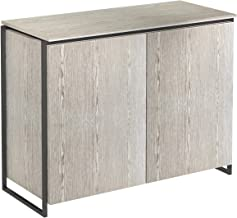 GillmoreSPACE Two Door Sideboard - Weathered Oak With Black Frame