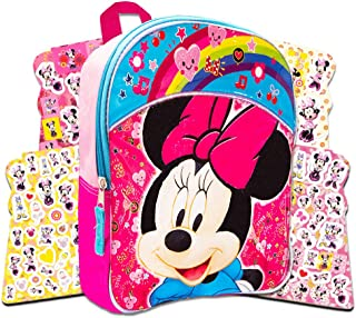 64285441722 Disney Toddler Minnie Mouse Preschool Backpack Set - Deluxe 11 Inch Minnie  Mouse Mini Backpack with