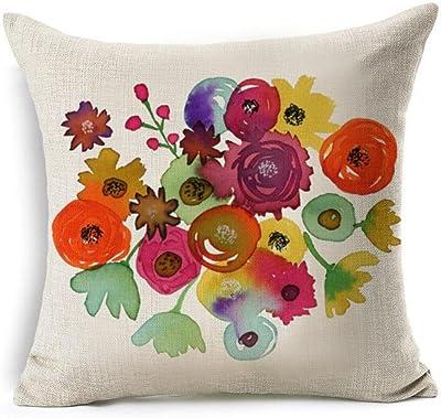 Amazon.com: Funda de almohada, Colored pintado a mano ojos ...