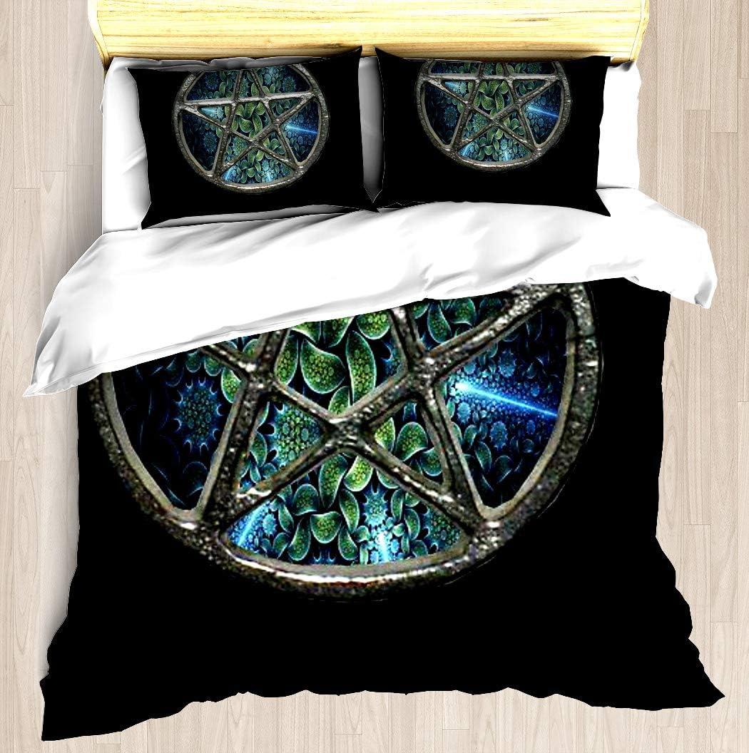 SNRBED Max 63% OFF Fractal Ranking TOP18 Water Pentagram Pentacle Duvet Pi Cover Wicca Set
