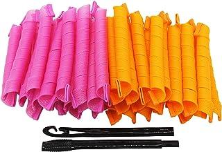 LZLRUN Super Long Spiral Magic Hair Curls Styling Kit - 40pcs & 45cm
