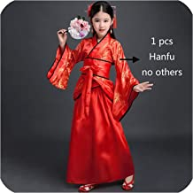 Hanfu Girls Dance Costume Chinese Festival Outfit Ancient Dress Oriental Stage