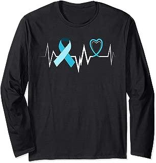 Heartbeat Adoption Foster Care Ribbon Foster Care Awareness Long Sleeve T-Shirt