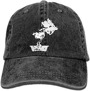 AUCAMP Cool Bonsai Tree Silhouette Men Women Classic Cotton Denim Baseball Cap Adjustable Outdoor Sports Hat