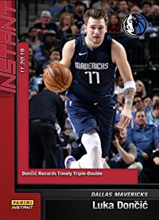 2018-19 LUKA DONCIC NOTCHES FIFTH CAREER TRIPLE DOUBLE PANINI INSTANT CARD 120 TOPLOADER
