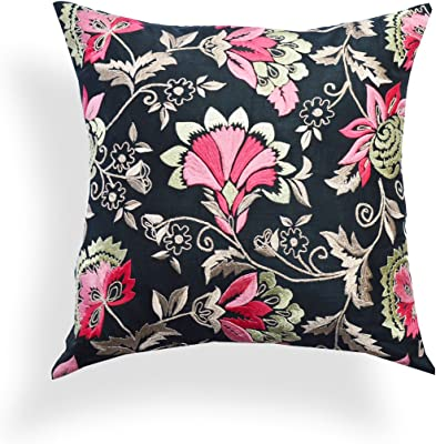 Pink The Pillow Collection Khorsed Floral Pillow