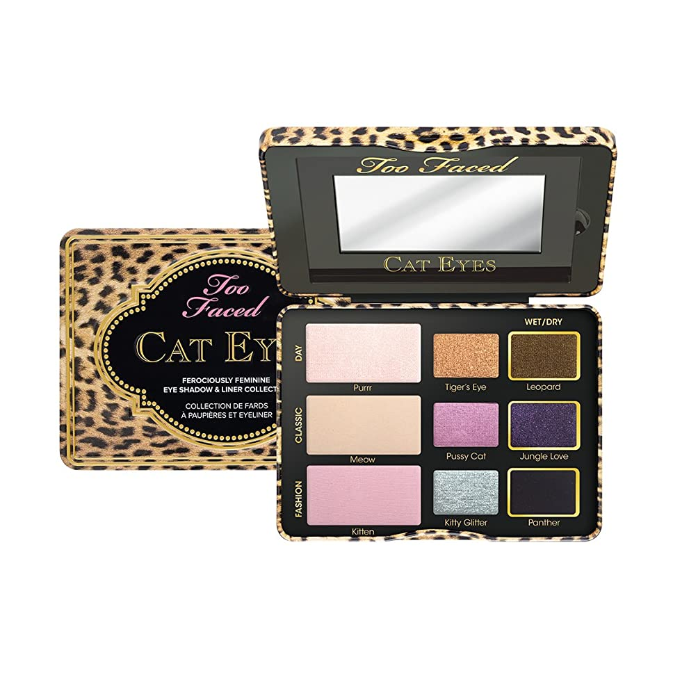 おもちゃタイマー保証金Too Faced Cat Eyes Ferociously Feminine Eye Shadow & Liner Collection (並行輸入品)