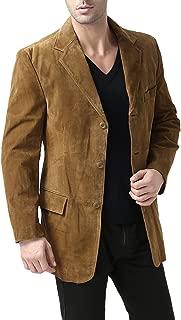 Men's Robert 3-Button Suede Leather Blazer (Regular Big & Tall and Short)
