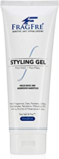 FRAGFRE Firm Hold Hair Gel Fragrance Free 8 oz - Strong Styling Gel for Aggressive Hair Styles - Paraben Free Hypoallergen...
