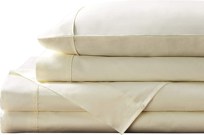 Brielle Home 300 Thread Count 100% Sheet Ranking TOP16 Cotton Queen Ivor Set Max 70% OFF