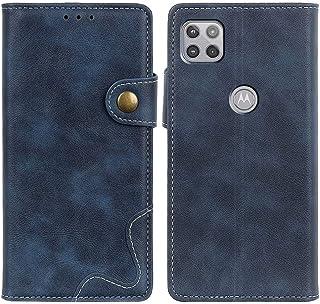 MOONCASE Moto G 5G Case, Premium PU Leather Cover Wallet Pouch Flip Case Card Slots Magnetic Closure Mobile Phone Protecti...