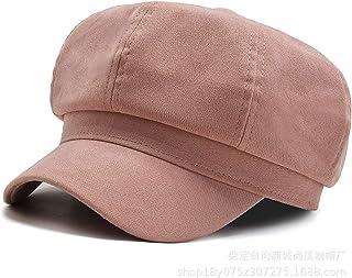 モノクロピュアコットンの女性ヴィンテージベレー帽フラットキャップ、秋と冬の八角形の帽子、すべてのマッチコットンハット,2