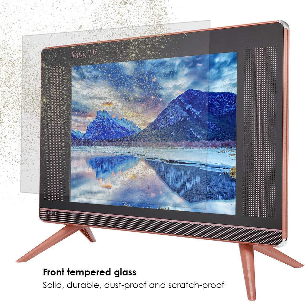 Ccylez Mini Televisor LCD DVB-T2 Portátil de 17 Pulgadas, HD TV de Alta Resolución de 1366x768 con Altavoz de Graves Trasero, TV con Control Remoto y Puertos HDMI USB VGA TV AV (
