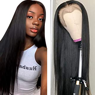 Straight Hair Lace Front Wig (18 inch) Brazilian 10A Remy Virgin Human Hair Wigs with Baby Hair For Black Women Lace Frontal Wig