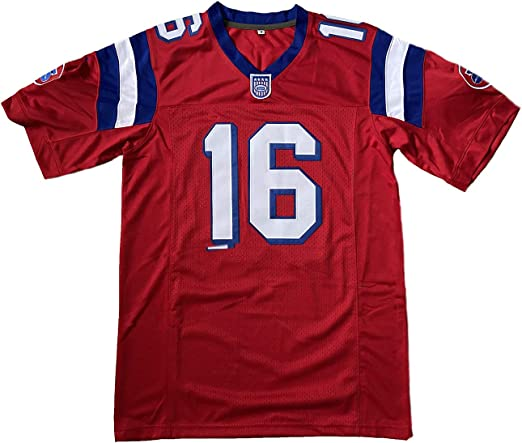 Shane Falco Jersey #16 The Replacements - Camiseta de fútbol para hombre, color rojo
