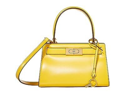 Tory Burch Lee Radziwill Petite Bag (Lemon Drop) Cross Body Handbags