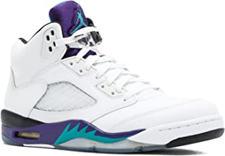 1e2d43c2776 Jordan Air 5 Retro Grapes Men's Basketball Shoes White/New Emerald-Grape  Ice-